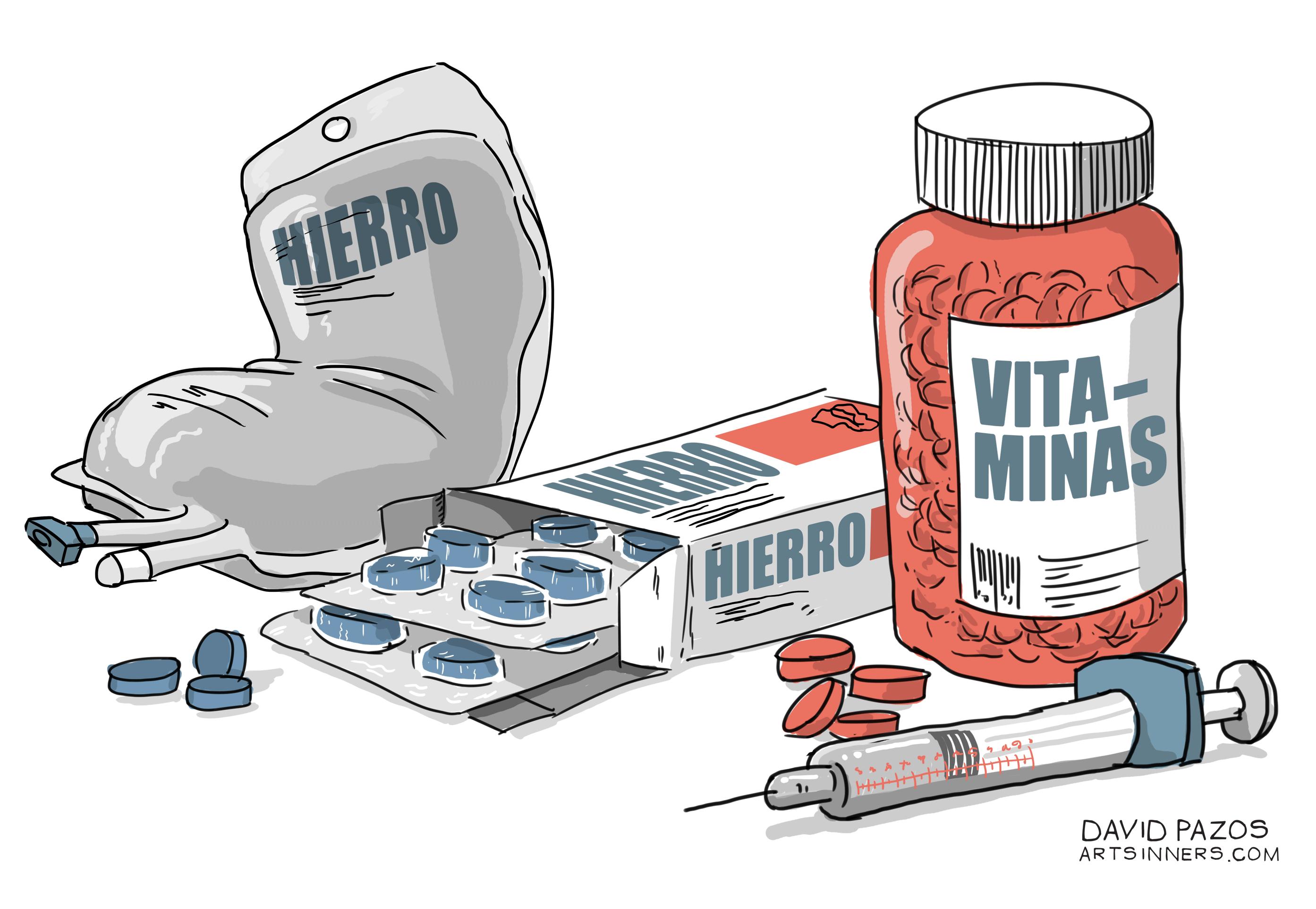 vitaminas e hierro